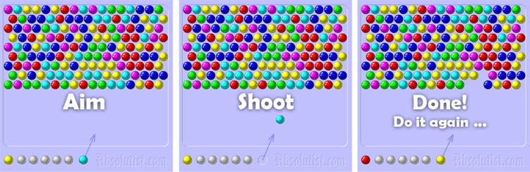 Bubble Shooter → Click here to play BubbleShooter for free